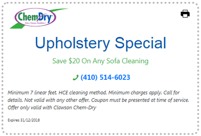 $20 Off Upholstery Cleaning